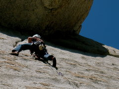 Rock Climbing Photo: The upper crack..friendlier jams