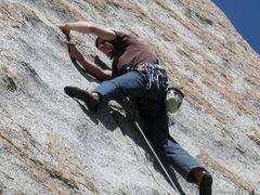 Rock Climbing Photo: Working through the crux..