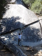 Rock Climbing Photo: Jerry leading Pot Belly.  Photo by Sandra