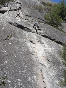 Rock Climbing Photo: Jerry M above the crux of After Seven.