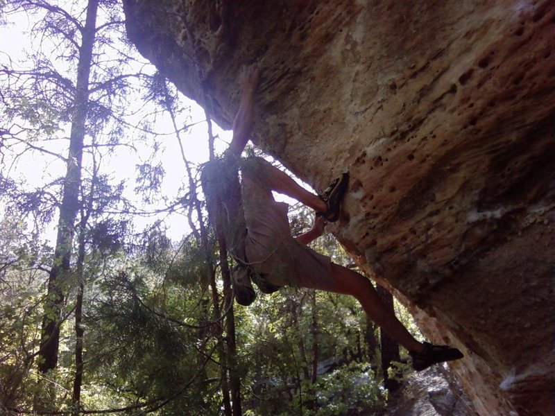 Rock Climbing Photo: Keystone Cave Boulder, Gift of the Valkyrie, V5, D...