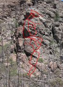 Rock Climbing Photo: There's more than one way to do it.