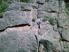 "Rock Climbing Photo: The final ""headwall""."