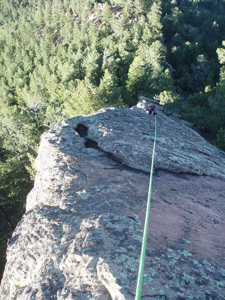 Rock Climbing Photo: Looking down....