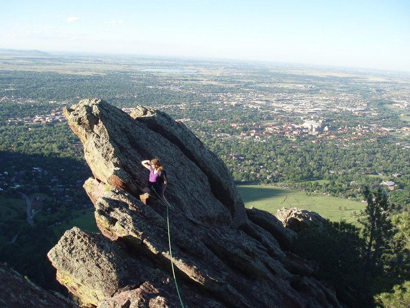 Rock Climbing Photo: Enjoying the amazing view....