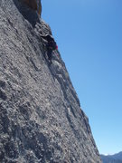 Rock Climbing Photo: The third pitch, taken from Cottontail.