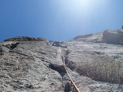 Rock Climbing Photo: Start of 2nd pitch if done as 3. Normally the star...