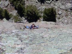 Rock Climbing Photo: Enjoying the stem box.