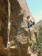 "Rock Climbing Photo: Matt Lloyd on the FA of the variation route ""..."