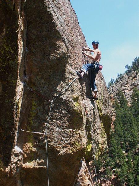 Rock Climbing Photo: Real Men Eat Eggs, 5.11+ R.