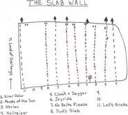 Rock Climbing Photo: The Slab Wall Overview