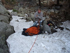 Rock Climbing Photo: Too early in the season?  We could see people with...