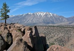 Rock Climbing Photo: The view across the Owens River Gorge, the Wheeler...