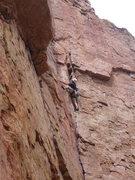 Rock Climbing Photo: Big moves.