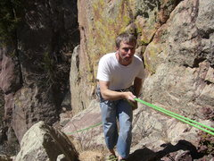 """Rock Climbing Photo: """"THE SLINGS ARE BREAKING!""""   Just kiddin..."""