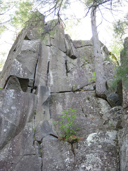 Rock Climbing Photo: This is Sentinel Crack.  It's take from the top of...