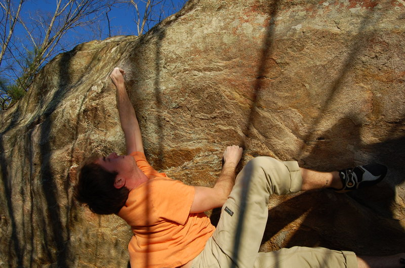 Rock Climbing Photo: the throw on heavy nuts