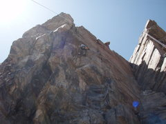 Rock Climbing Photo: Over the roof