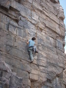 Rock Climbing Photo: Suzanne on Solito