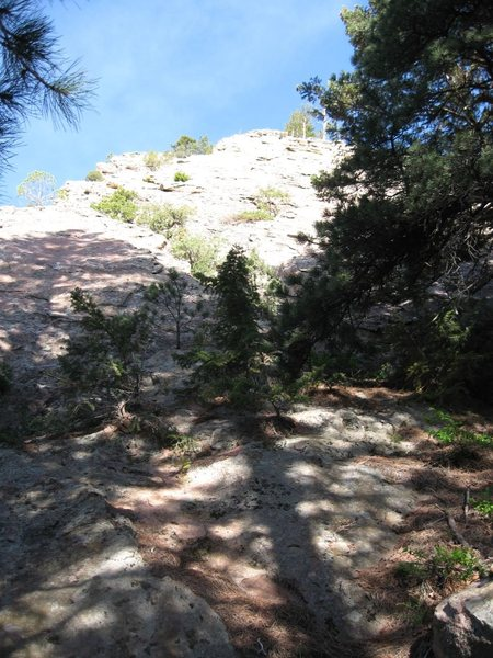 Rock Climbing Photo: The Apostle's East Face, N Side, scrambling ridge.