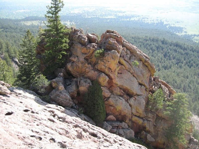 The Apostle's summit, Class 3 downclimb West.