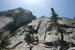 Rock Climbing Photo: Noelle Ladd at the top of the first pitch of Graha...