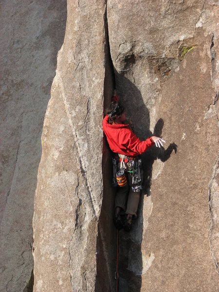 "Rock Climbing Photo: With a lisp.... ""Ooh this IS a nice crack!&qu..."