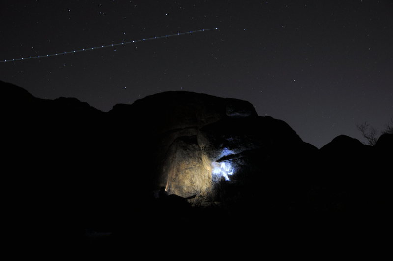 Rock Climbing Photo: night climbing