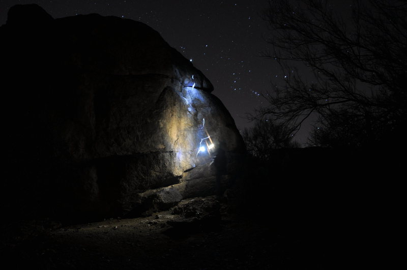 Rock Climbing Photo: more at night