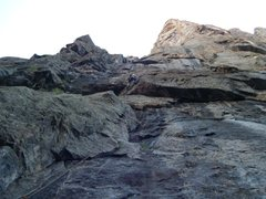Rock Climbing Photo: Looking up at the start and first pitch of Atlanti...