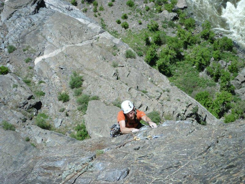 Rock Climbing Photo: Seventh pitch of Atlantis.