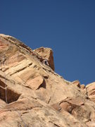 Rock Climbing Photo: Jim Shimberg on the crux pitch
