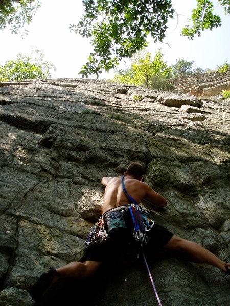 Rock Climbing Photo: starting up...