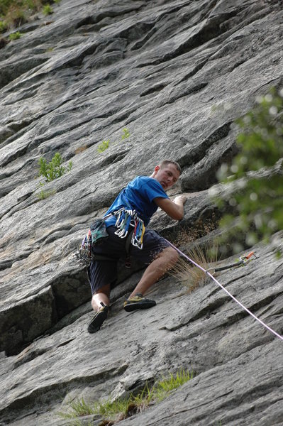Rock Climbing Photo: Looking up first pitch. Also fun...
