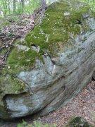 Rock Climbing Photo: Pocket Problem climbs through pockets to green top...