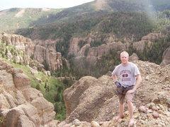 Rock Climbing Photo: Eric Allen on top celebrating.