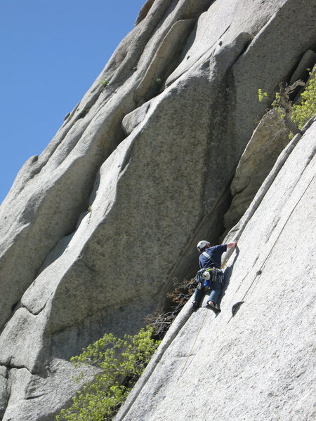 Rock Climbing Photo: There are some cool crack traverse moves on this o...