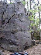 Rock Climbing Photo: Climb up through face into slopers.