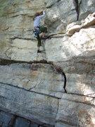Rock Climbing Photo: starting up the big flake