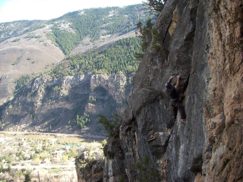 Rock Climbing Photo: Perched above Glenwood Canyon. Within Range at Eas...