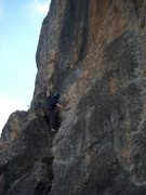 Rock Climbing Photo: The upper half of Within Range at East Canyon, Gle...