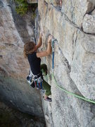 Rock Climbing Photo: Looking down the 1st pitch