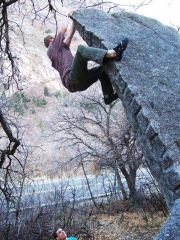 Rock Climbing Photo: Secret Garden Arete V2