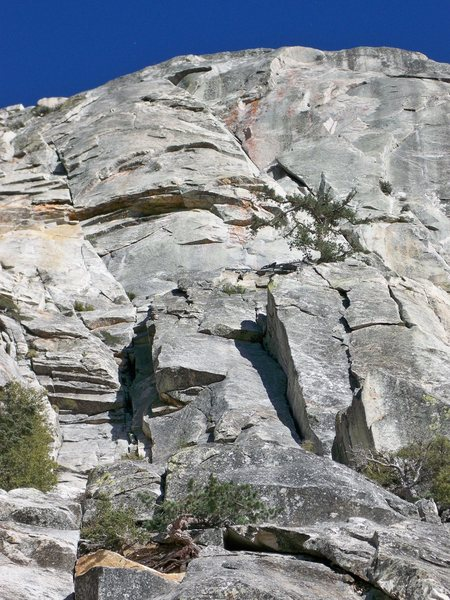 Rock Climbing Photo: West Face Bulge from below.  Great views of Standu...
