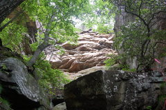 Rock Climbing Photo: The way up when exiting from the point, if you don...