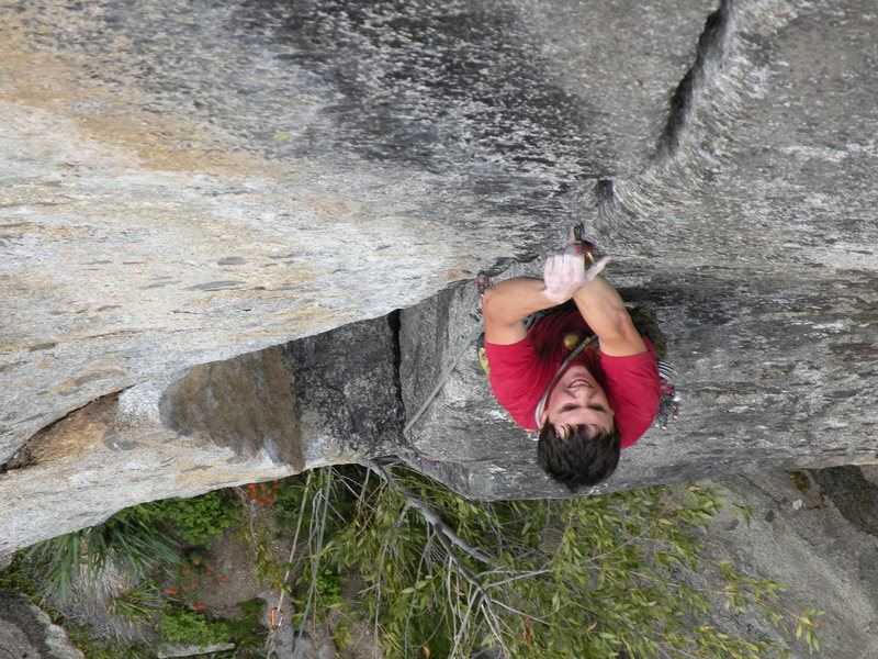 Rock Climbing Photo: Starting up the splitter section of Tales of Power...