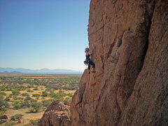 Rock Climbing Photo: Halfway up Taste the Rainbow.  Killer views from t...