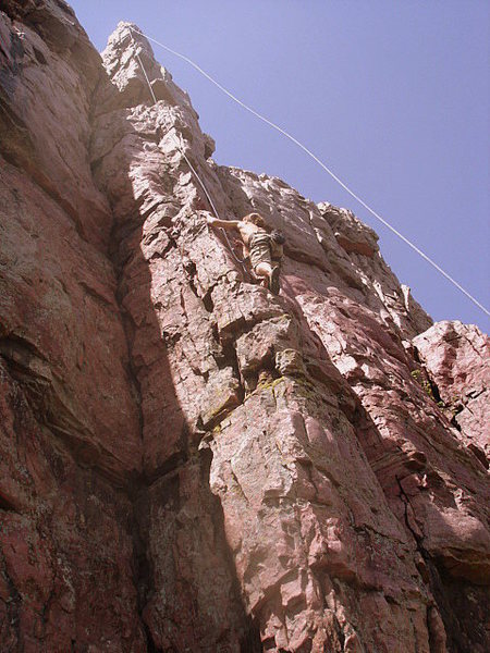 Rock Climbing Photo: Ingman on Becky's Arete.
