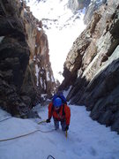 Rock Climbing Photo: brenta arriving at my belay atop P1 on Martha, 5/1...