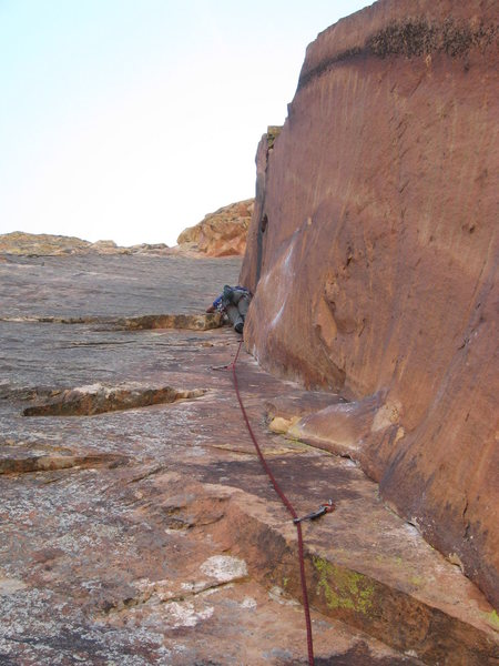 Mike leading the 1st Red Dihedral pitch.